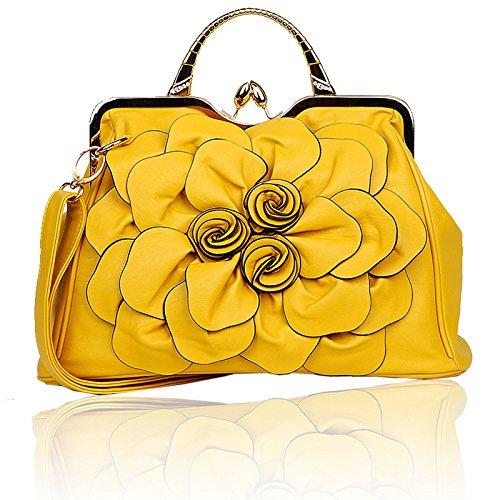 Signore Moda Coreano Borsetta Yellow Donne Borse Spalla A Casual UHUPBvq