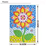 GreatestPAK Kids DIY Mosaic Diamond Sticker Jigsaw, Animals Pattern Art Kits Educational Puzzle Funny Creative Toys, Gift for Baby Birthday Age 3-9 Years Old (Flower)