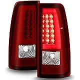 Red Clear 99-02 Silerado Pickup LED Tube Tail Lights Brake Lamp Replacement Driver & Passenger