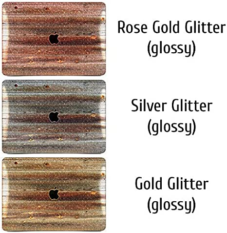 Cavka Hard Glitter Case for Apple MacBook Pro 13 2019 Retina 15 Mac Air 11 Mac 12 Bling Wooden Print Bronze Cover Glossy Design Brown Abstract Mosaic Silver Tile Rose Gold Sparkly Shiny Luxury