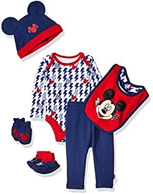 Baby Boys' Mickey Mouse 6 Piece Gift Set