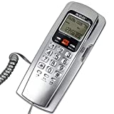 Wall-mounted Telephone Landline Home Office Wired Fixed Telephone Caller ID Extended Terminal (color : Silver)