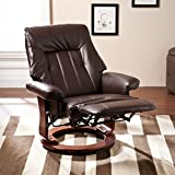 Harper Blvd Hallowell Kona Brown Recliner w/Hidden Ottoman