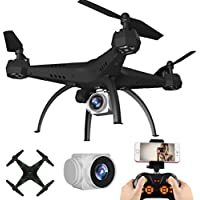 KY501 RC Drone Wifi FPV Quadcopter ,with 6-Axis Gyro 2.4G Altitude Hold HD Camera UAV Helicopter 360-degree 3D Rolling, [Easy to Fly for Beginner] (Green)