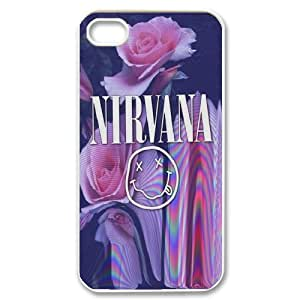American Rock band Nivana poster Hard Plastic phone Case Cover For Iphone 4 4S case cover XFZ417657