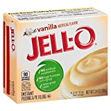 Jell-O Vanilla Instant Pudding Mix 3.4 Ounce Box (Pack of 24)