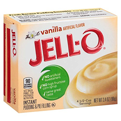 JELLO Vanilla Instant Pudding amp Pie Filling Mix 34 oz Boxes Pack of 24