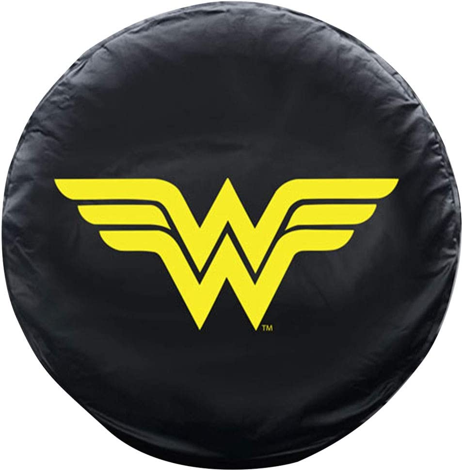 BDK All Weather DC Comics Snug Custom Fit Spare Tire Cover for Jeep Wrangler w//Elastic Band Superman 1987-2019 JK, JL, CJ, YJ,/& TJ