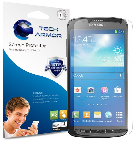 Galaxy S4 Screen Protector, Tech Armor High Definition HD-Clear Samsung Galaxy S4 Screen Protector [3-Pack]