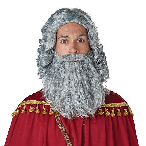 (Wise Man Gray Wig and Beard -)