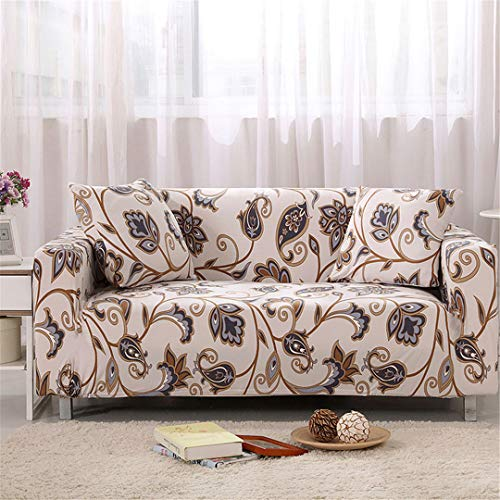 (Ranferuyk Floral Sofa Cover Slipcovers Elastic Stretch Tight Wrap All-Inclusive Sofa Couch Cover Towel Furniture Protector 1/2/3/4 Seater Color 11 2-Seater 145-185cm)