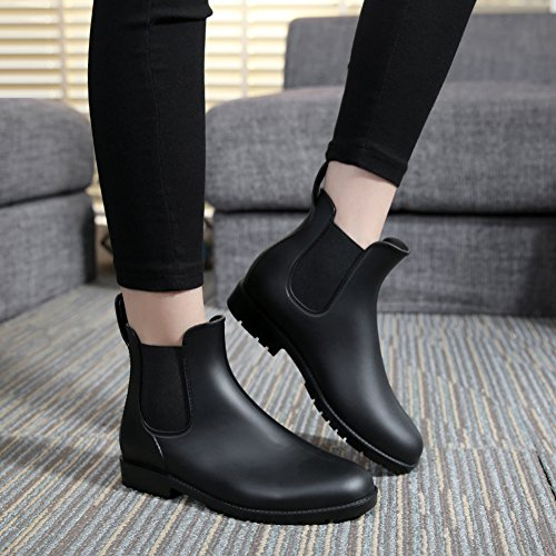 8d2a41090d Clothing, Shoes & Jewelry Asgard Womens Short Rain Boots Waterproof Slip On  Ankel Chelsea Booties