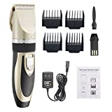 Dog Clippers / Cat Shaver Professional Pet Hair Grooming Clippers with Low Noise, Rechargeable Cordless Dog Hair Trimmer Pet Grooming Tool Kits for Dogs Cats and Other Animals