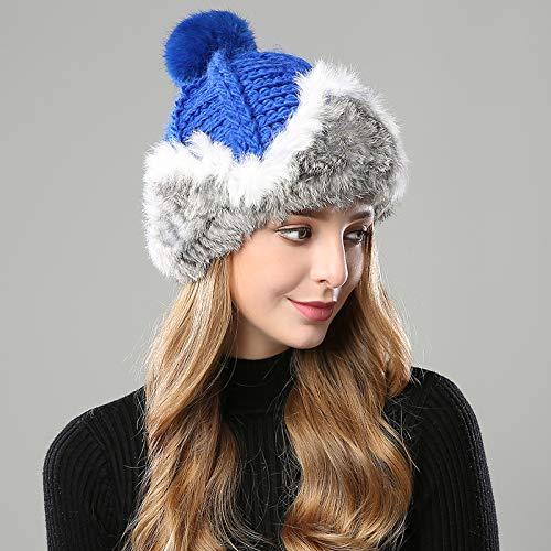 - HOKUGA: winter hats for women beanie girls 2018 hat fur pompom knitted crocheted hat for women's rabbit Skullies cashmere mink warm hat
