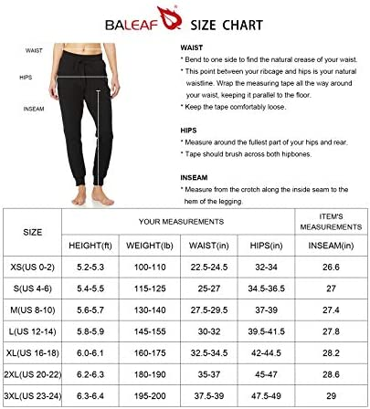 BALEAF Women's Cotton Sweatpants Cozy Joggers Pants Tapered Active Yoga Lounge Casual Travel Pants with Pockets