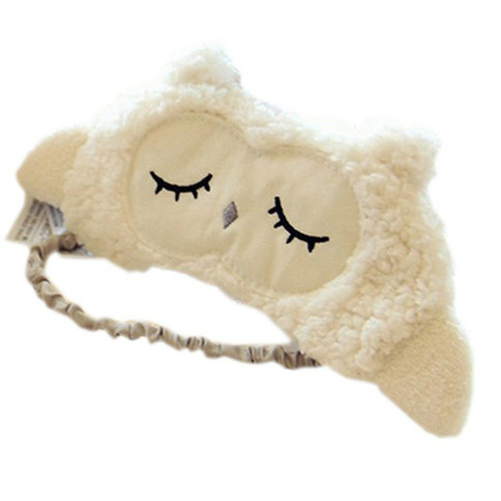 Ayygiftideas Lambs Wool Patch Eye Mask Eyeshade