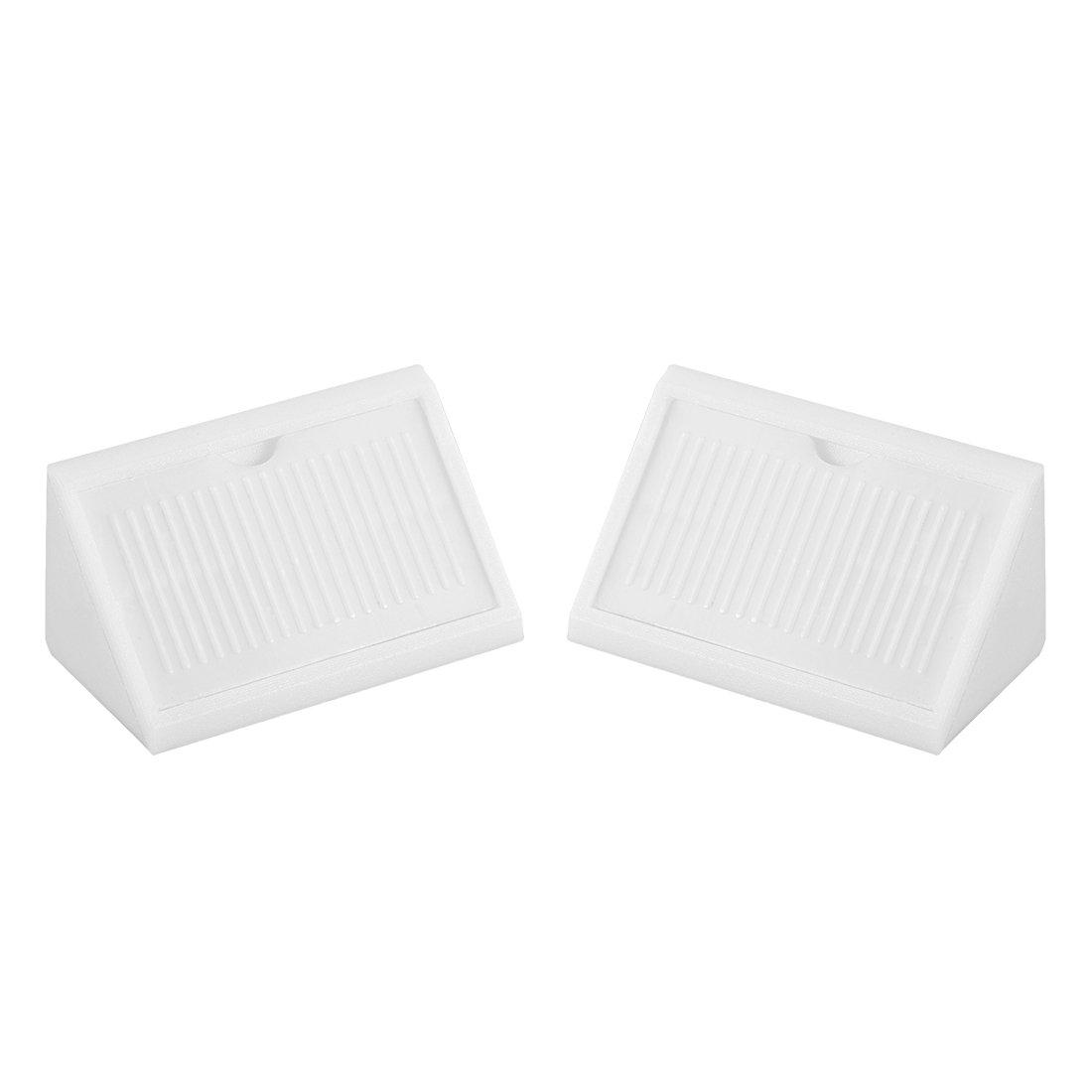 uxcell Shelf Door 42mmx20mmx20mm 4 Holes Plastic Corner Braces Angle Brackets White 100 Pcs