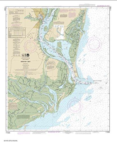 (NOAA Chart 11532-Winyah Bay - Water-Resistant - by East View Geospatial)