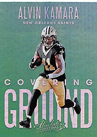 38e1469e8 2018 Absolute Football Covering Ground  8 Alvin Kamara New Orleans Saints  Official NFL Trading Card