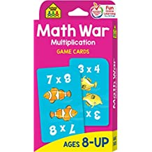 School Zone - Multiplication War Game Cards - Ages 8-Up, Math Games, Multiplication Tables, Third Grade Math