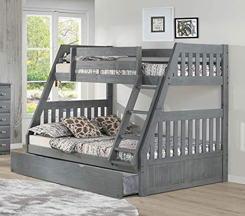 American Furniture Classics Model 4818-TRUN Solid Acacia Hardwood Full Twin Trundle in Chestnut bunk Bed, (American Furniture Classics Bunk Bed Twin Full)
