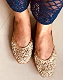 Rose Gold Beaded Bridal Shoes, Copper Women Wedding Jutti, Indian Ethnic party shoes, Shoes With Beads