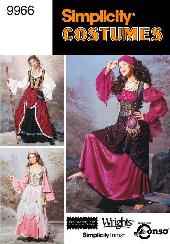Simplicity Sewing Pattern 9966 Misses Costumes, HH (6-8-10-12)