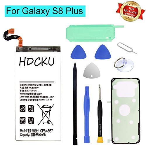 HDCKU Battery Replacement Kit for Samsung Galaxy S8 Plus G955 EB-BG955ABE with Full Repair Tools Set and Instructions for Galaxy S8+ Battery(365 Days Warranty)
