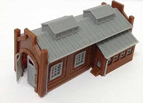 Outland Models Train Railway Locomotive Shed / Engine House (1-Stall) N Scale