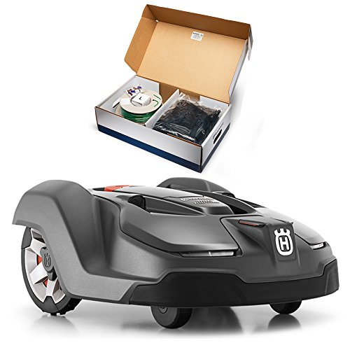Husqvarna 450X Automower Robotic Lawn Mower Bundle w/ Husqvarna 967623603 Installation Kit - LARGE