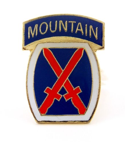 Infantry 10th Mountain Division (US Army 10th Infantry Division Mountain Lapel Hat Pin Gift Military PPM658)