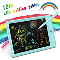 KOKODI LCD Writing Tablet, 10 Inch Colorful Toddler Doodle Board Drawing Tablet,...
