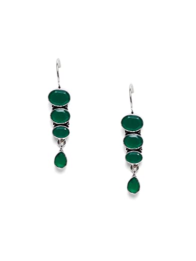 gold water cz plated earrings dangle women green stone color long drop girls pierced item