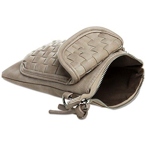 CASPAR Fashion - Cartera de mano para mujer Talla única marrón