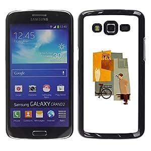 TopCaseStore / la caja del caucho duro de la cubierta de protección de la piel - Minimalist Pastel Lady Beige - Samsung Galaxy Grand 2 SM-G7102 SM-G7105