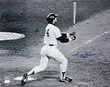 Reggie Jackson Autographed 16x20 BW At Bat Photo- JSA Witness Authenticated