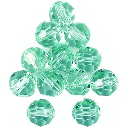 Crystal Bauble - 12 Cantaloupe Round Swarovski Crystal Beads 5000 6mm