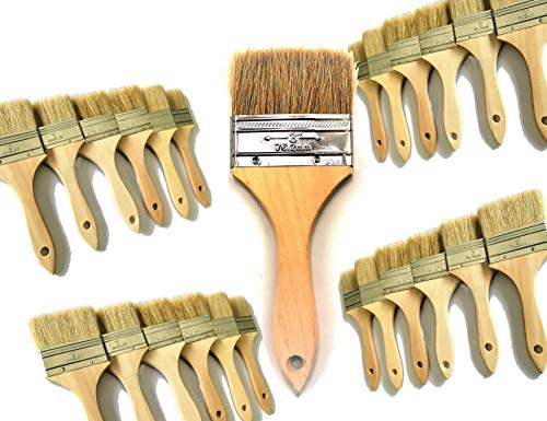 PANCLUB 28 Pack of 3 inch Paint and Chip Paint Brushes Bulk, for Paint, Gesso, Glues, Varnishes, Stains, and - Acrylic Away