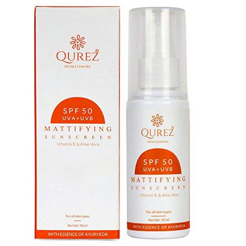 Qurez Mattifying Sunscreen SPF 50 Paraben Free, 50ml