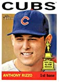 2013 Topps Heritage MLB Trading Card # 191 Anthony Rizzo Chicago Cubs
