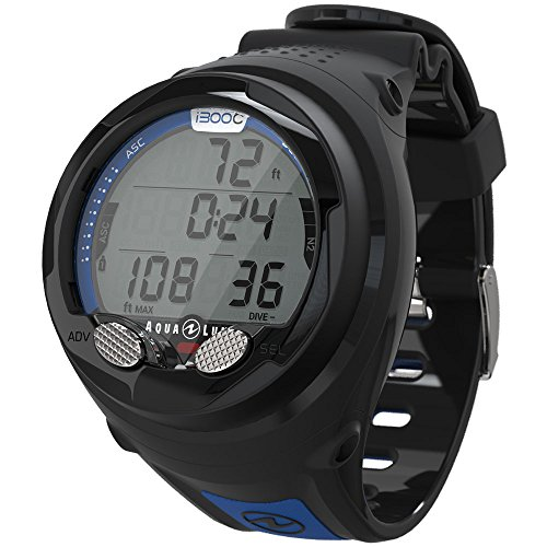 Aqua Lung I300c Wrist Dive Computer with Bluetooth Black/Blue (Best Dive Log App)