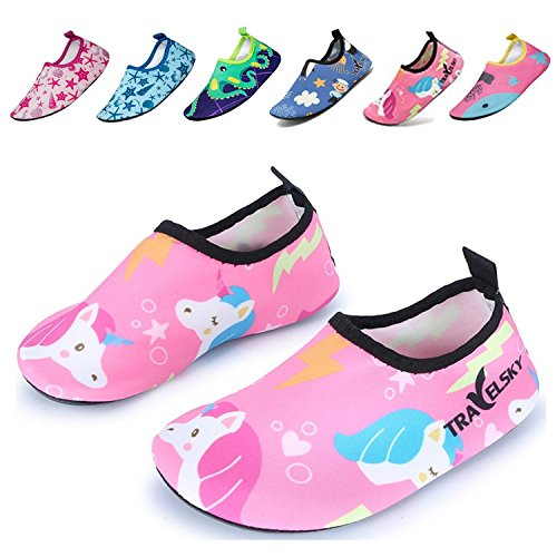 UMmaid Kids Beach Shoes Water Socks For Swimming Running (Kids Beach Shoe)