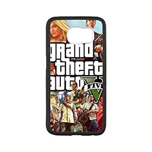Samsung Galaxy S6 Cell Phone Case Black GTA 5 Characters B5J6ST