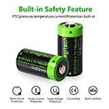 Enegitech CR123A Rechargeable Lithium ion Batteries
