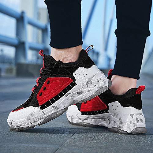 Los Informal Zapatillas Mosca La Deporte Deportivos Tejida Hombres Zapatos Malla De Ligeros Casual Transpirable Tendencia Rojo Moda ZgWXZq