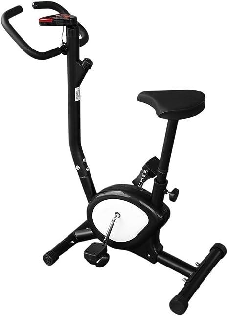MJS Bicicleta Estática Plegable, Bicicleta de Fitness, Unisex, Elíptica ergometre Fitness Cardio Gym con Ordenador de Entrenamiento, Negro: Amazon.es: Deportes y aire libre
