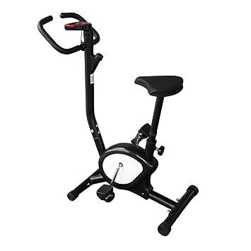 MJS Bicicleta Estática Plegable, Bicicleta de Fitness, Unisex, Elíptica ergometre Fitness Cardio Gym