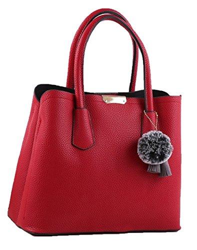 Bolsos 2018 Nuevo Temperamento Simple Fashion Stereotypes Ladies Handbag Shoulder Bag Fashion Bag Red