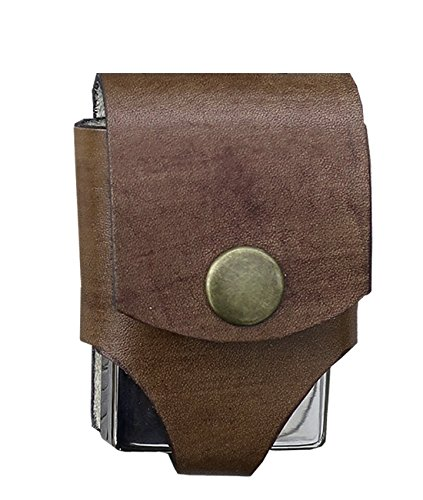 For Zippo Genuine Leather Heavy Duty Pouches Lighter Holder Case Hand Made Pouch Accessories by Ebsem (BELT LIGHTER, Wingate ()