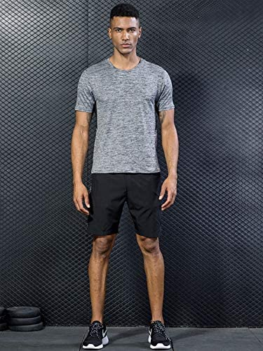 51aU3trzhyL. AC 5 Pack Men's Active Quick Dry Crew Neck T Shirts | Athletic Running Gym Workout Short Sleeve Tee Tops Bulk    Product Description